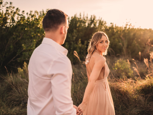 Siesta Key Sunset Engagement Photo Shoot * Sarasota Couples Photographer * Fallon Photography