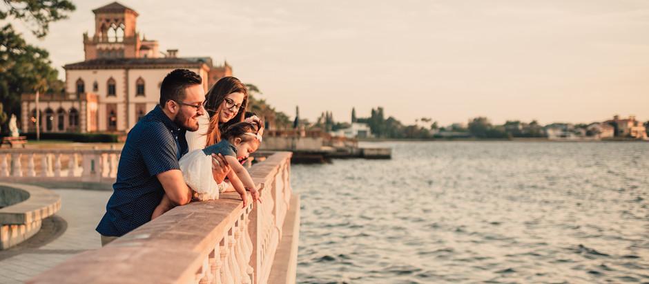 Family Photography at a New College Sunset - Sarasota Photographer