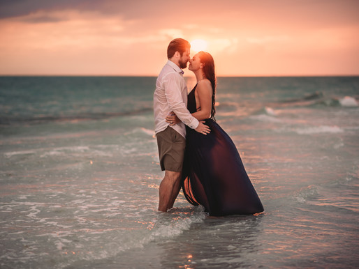 Engagement Photo Shoot * Postponed Wedding due to COVID * Siesta Key Photographer