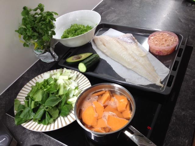 Kiire õhtusöök kala ja köögiviljadega