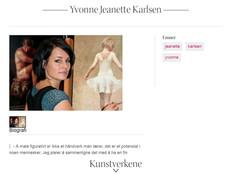 Yvonne Jeanette Karlsen profile - Galleri Fineart