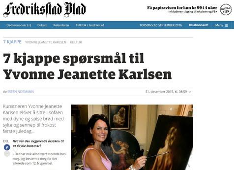 7 kjappe spørsmål til Yvonne Jeanette Karlsen - Fredrikstad Blad