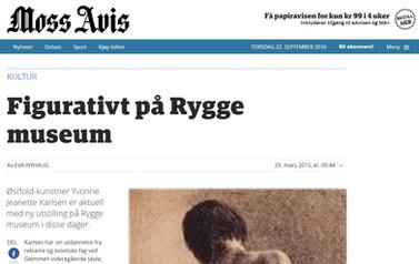 Østfold kunstner Yvonne Jeanette Karlsen utstilling på Rygge museum - Moss Avis