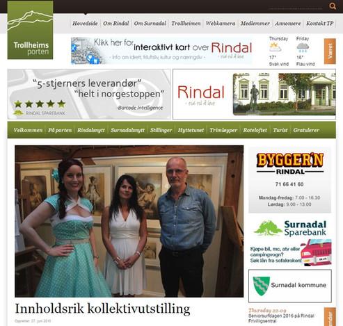 Yvonne Jeanette Karlsen, Rolf Øidvin, Inga Dalsegg kollektivutstilling - Trollheims porten