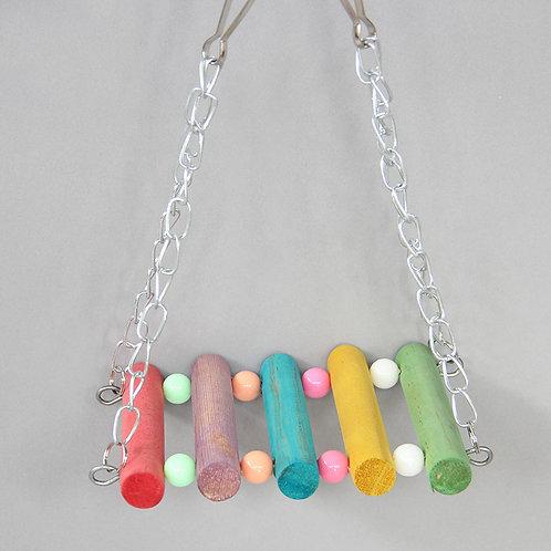 Brinquedo Balancinho Multicolorido para Calopsitas e Psitacídeos