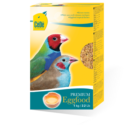 Para Pássaros Exóticos - Cédé Eggfood Tropical Finches (1Kg)