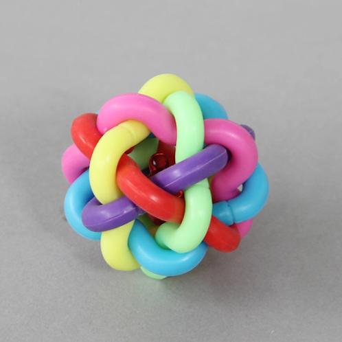 Brinquedo Bola Sino Colorida para Estímulo dos Pés e Bico