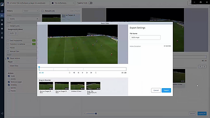Football video clips playlist