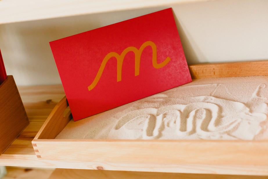 Sand Papper Letters Montessori Child Care