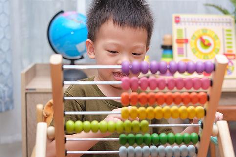 Montessori kindergarten 4 years old boy