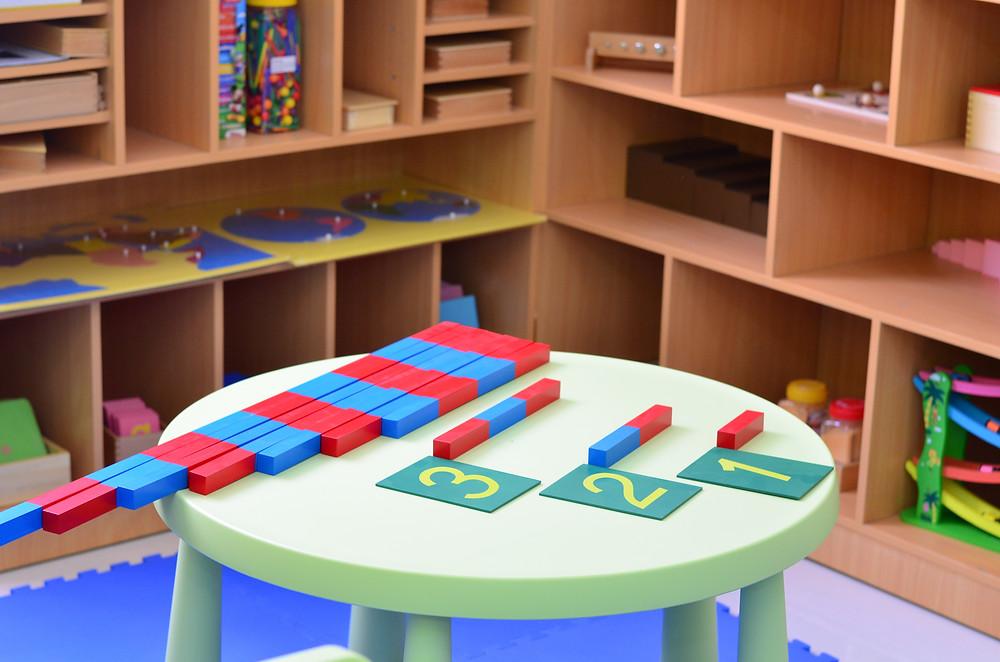 Number Rods To Teach Maths - Montessori Gold Coast Child Care