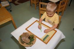 Mitchel with pencil