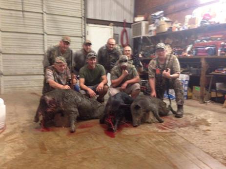 The Wild Hog Team Of Hunters Texas