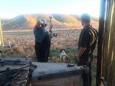 Bruce Hunnicutt Sighting His Bow Royal Karoo Safaris