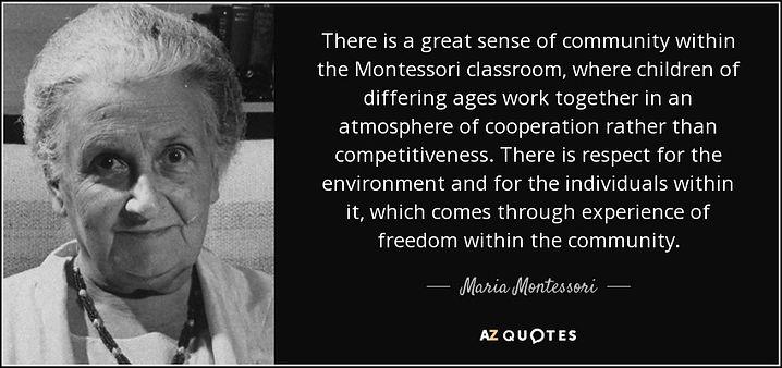 Mudgeeraba Montessori Quote