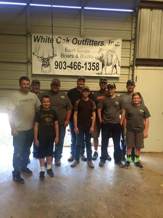 A group Of Wild Hog Hunters East Texas