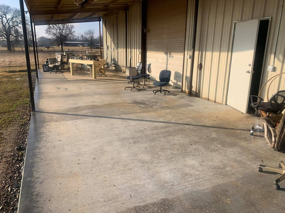 Our Shooting Station To Check Your Rifle In Now Concrete