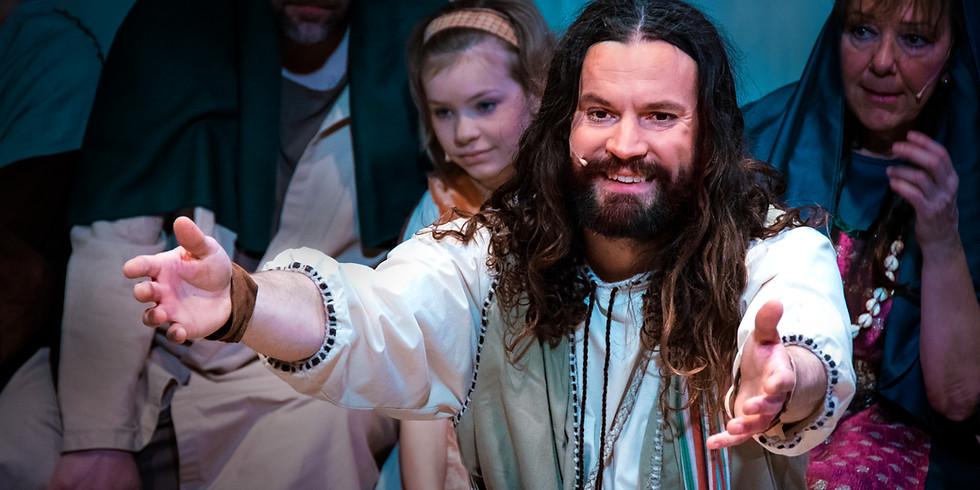 Vem är den mannen? Se musikalen om Jesus som förändrade hela världen.