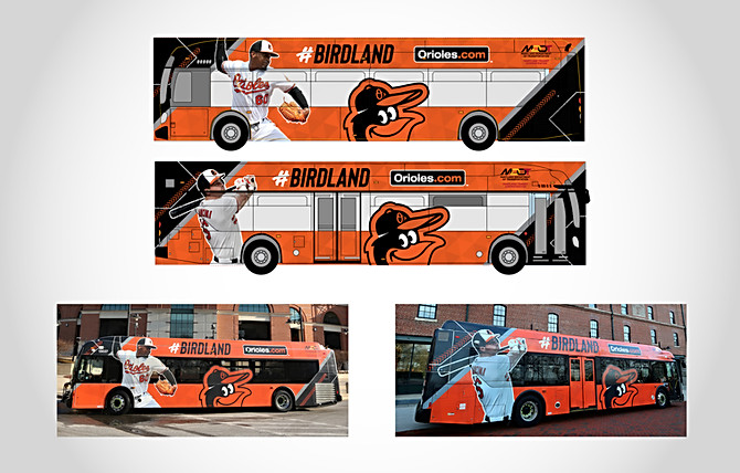 Orioles Bus Wrap