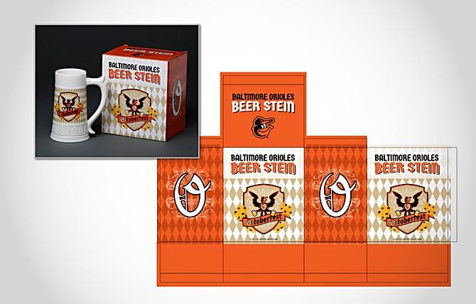 Orioles Beer Stein Packaging
