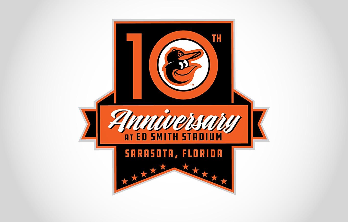 Orioles 10th Anniversary Sarasota Logo