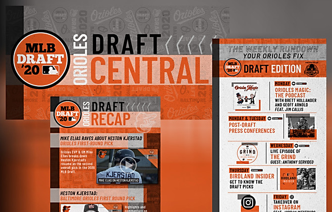 Orioles Draft Central Web and Email Campaign