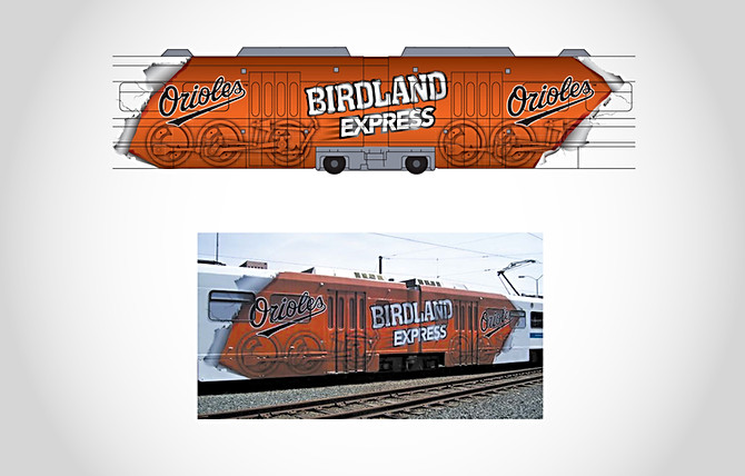 Orioles Light Rail Wrap
