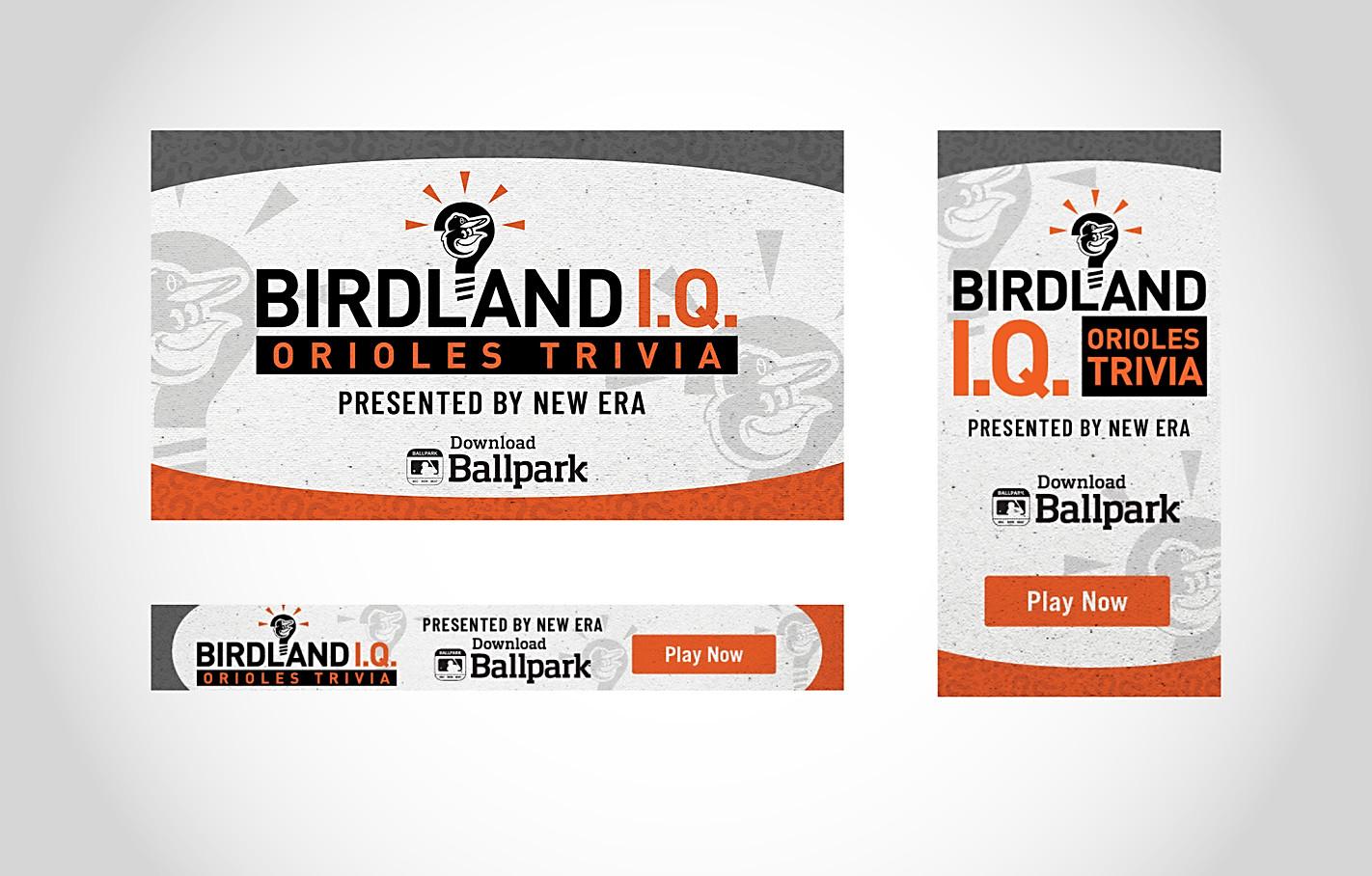 Orioles Birdland I.Q. Trivia Graphics