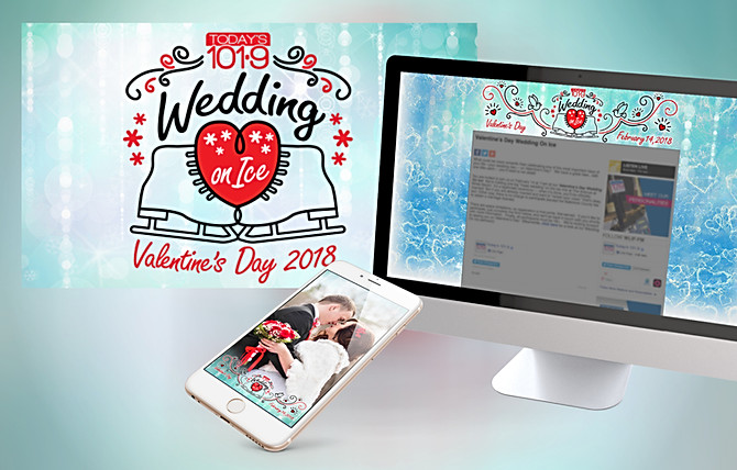 Today's 101.9 Valentine's Day Wedding on Ice Campaign