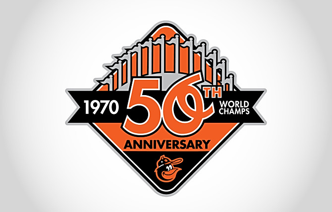Orioles 50th Anniversary of the 1970 World Series Logo