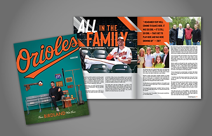 Orioles Magazine 2nd Edition 2019 Cover & Article Layout