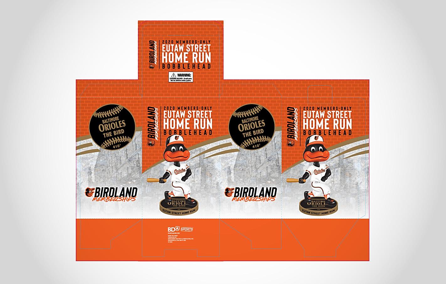 Orioles Home Run Bird Bobblehead Packaging