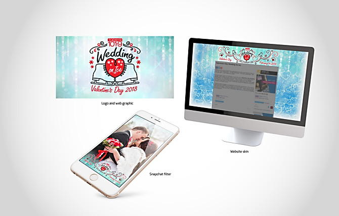 Today's 101.9 FM Valentine's Day Wedding on Ice Campaign
