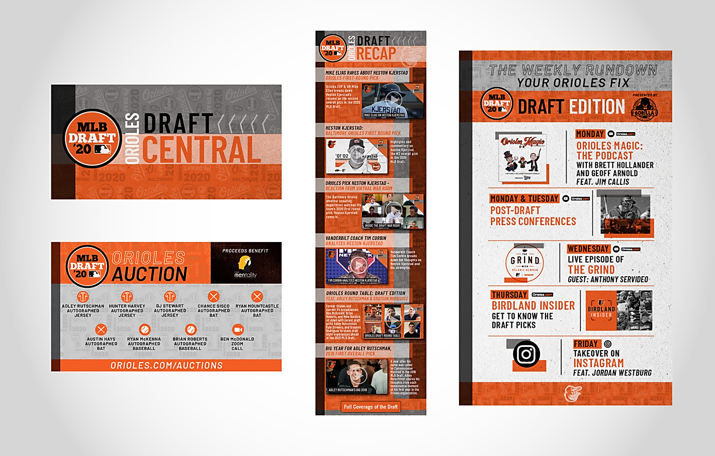 Orioles Draft Central Web Campaign