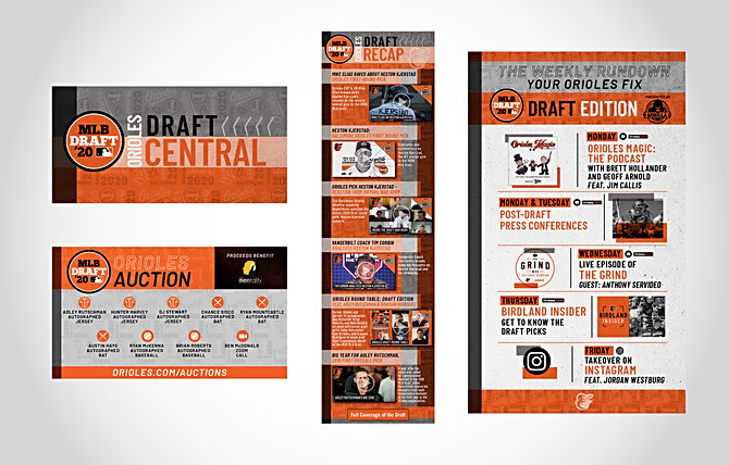 Orioles Draft Central Web Campaign