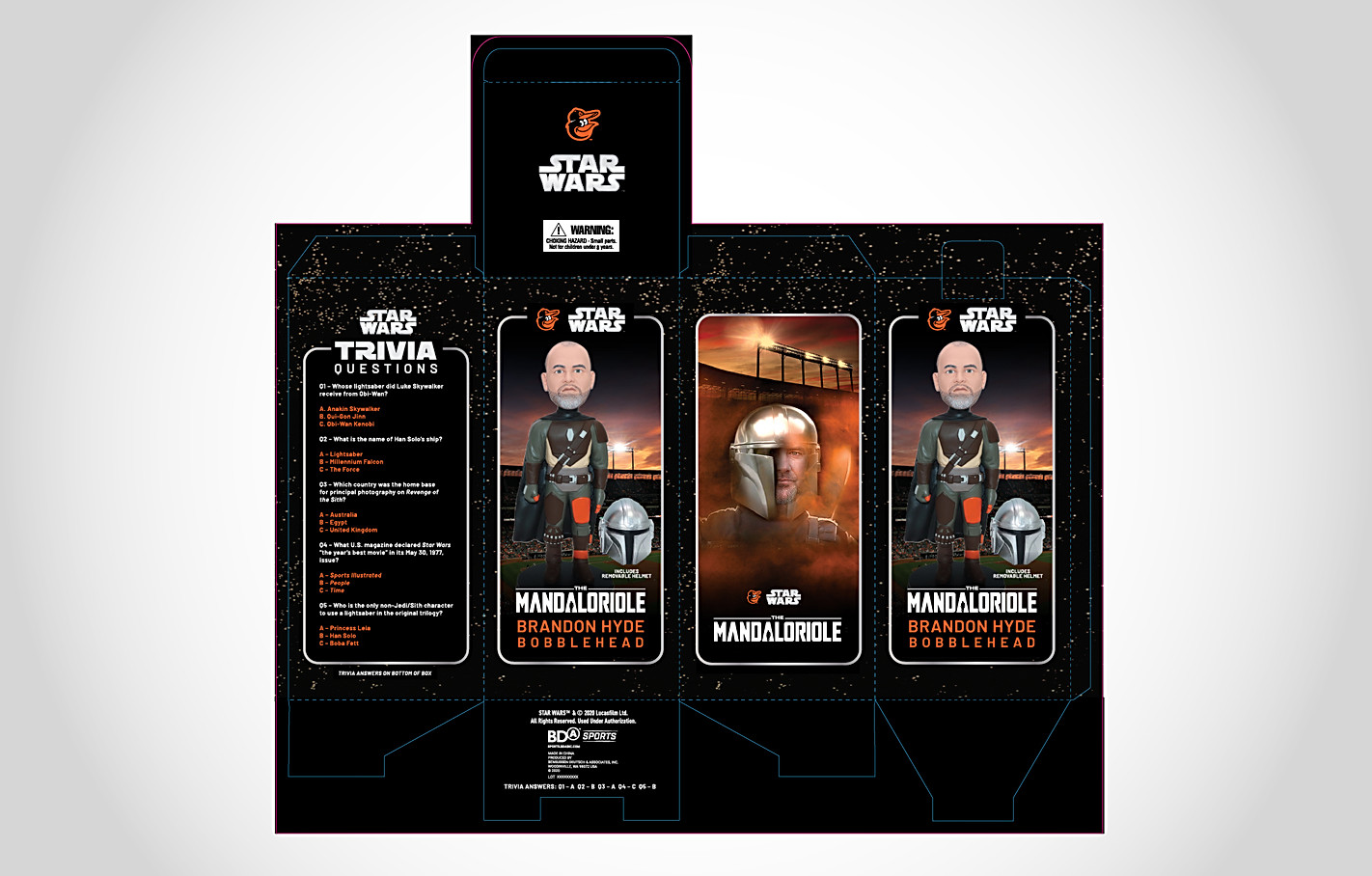 Orioles Star Wars The Mandaloriole Bobblehead Packaging