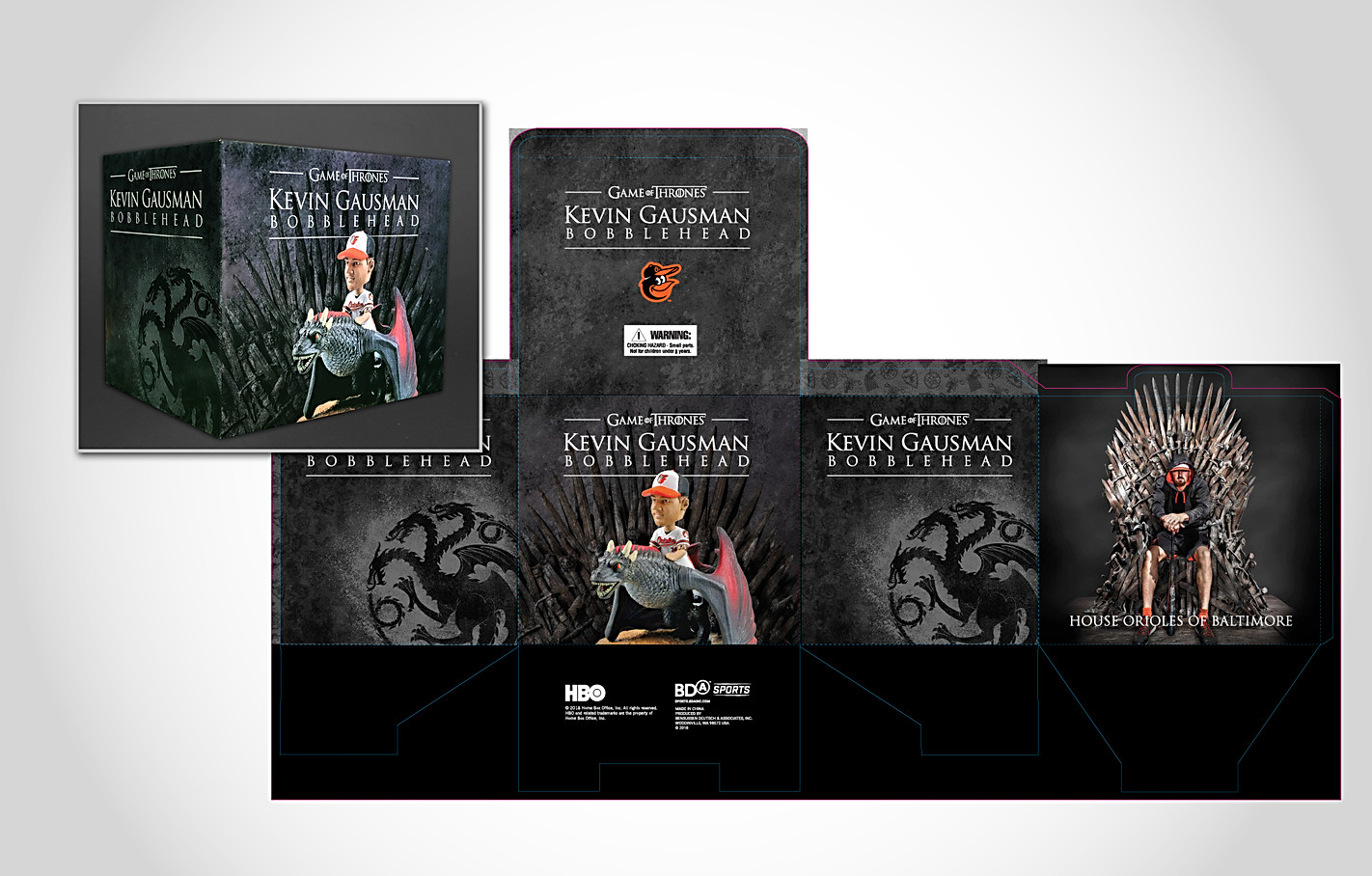 Orioles Game of Thrones Gausman Bobblehead Packaging