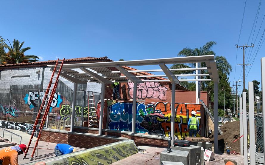 skatepark was still under construction when the kids declared it theirs..gotta love em. Echo Park Los Angeleeez