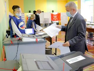 Александр Балберов сделал свой выбор в первый день голосования