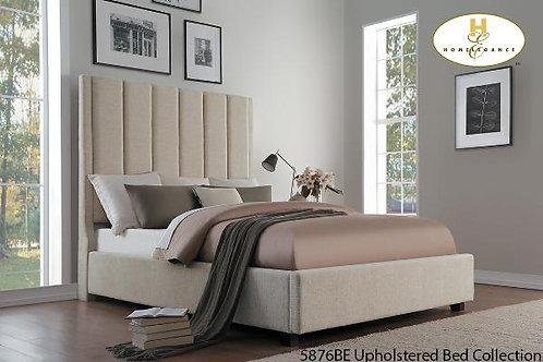 Neunan Collection Beige Fabric Bed