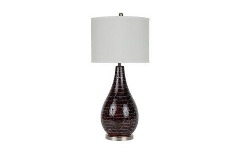 "35"" Glass Mozaic Table Lamp"