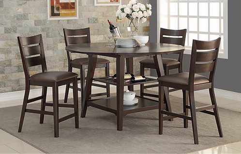 """Parkside 60"""" Round Tall Table W/ Drop Leaves"""