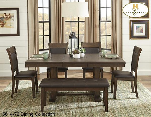 Contemporary Dining Collection Light Rustic Ash Dining Table w/ Butterfly Leaf
