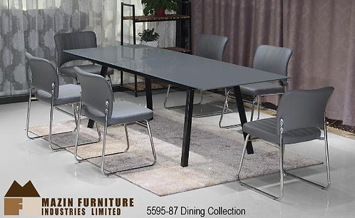 Modern Dining Collection Grey/Black Dining Table w/Extension