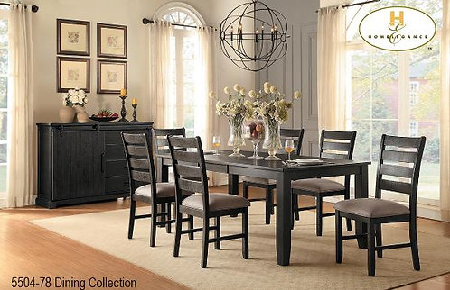 """Stevensville Collection Dining Table w/18"""" Ext Leaf"""