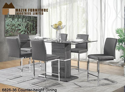 Shirelle Collection Chrome Finish Counter-Height Dining Table