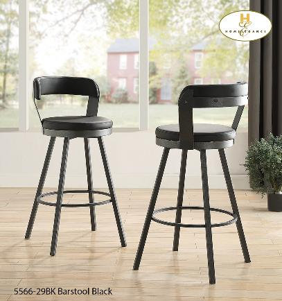Bistro Collection Black PU Pub Chair