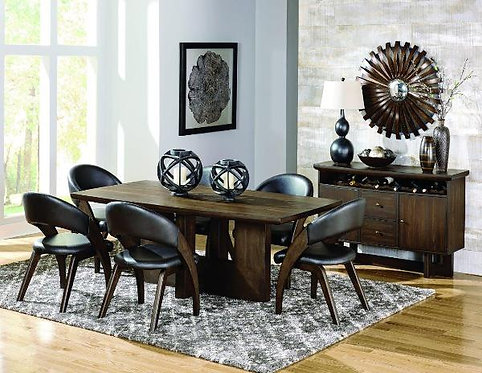 Onofre Collection Oak Finish Dining Table