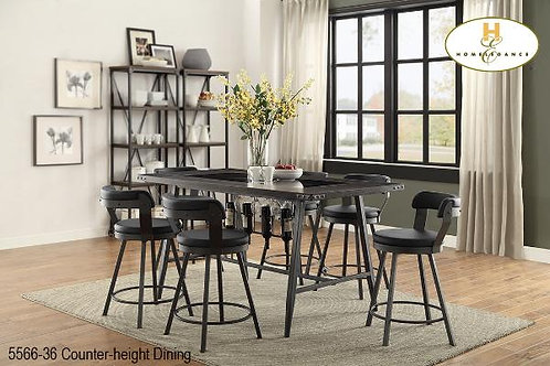 Bistro Collection Black PU Counter-height Chair