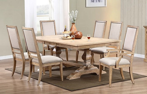 "Avery 98"" Pedestal Table"